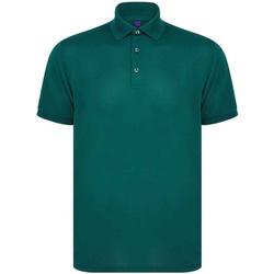 Vêtements Homme Polos manches courtes Henbury H465 Vert bouteille