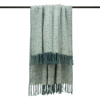 Maison & Déco Couvertures Furn Taille unique Bleu sarcelle