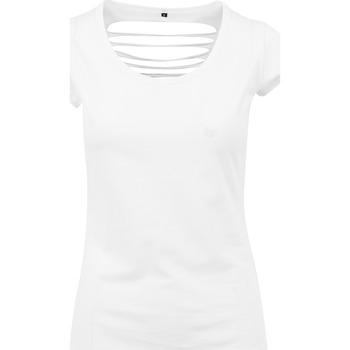 Vêtements Femme T-shirts manches courtes Build Your Brand BY035 Blanc
