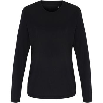 Vêtements Femme T-shirts manches longues Tridri TR060 Noir