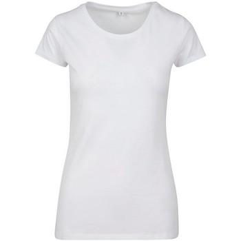 Vêtements Femme T-shirts manches courtes Build Your Brand BY086 Blanc