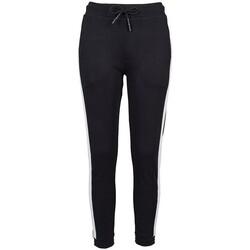 Vêtements Femme Pantalons de survêtement Build Your Brand BY103 Noir / blanc