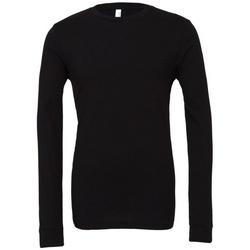 Vêtements T-shirts manches longues Bella + Canvas BE044 Noir