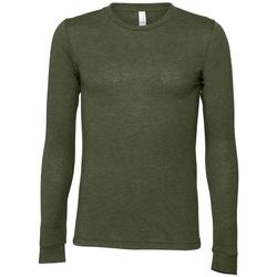 Vêtements T-shirts manches longues Bella + Canvas BE044 Vert militaire