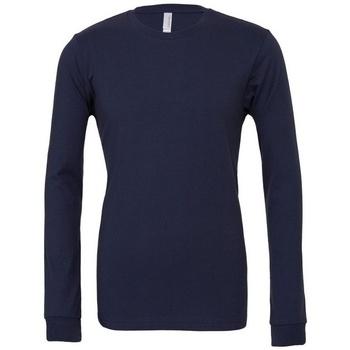 Vêtements T-shirts manches longues Bella + Canvas BE044 Bleu marine