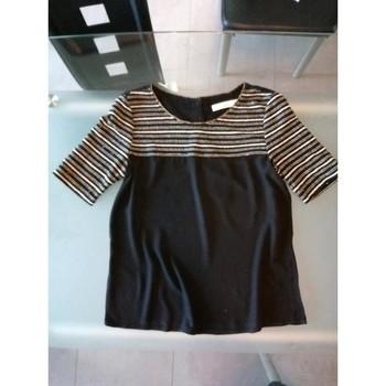 Vêtements Femme T-shirts manches courtes Carminn T-shirt fluide manches courtes Noir