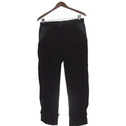 Vêtements Femme Chinos / Carrots Fred Sabatier Pantalon Droit Femme  40 - T3 - L Noir
