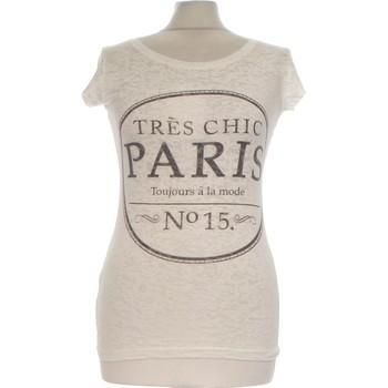 Vêtements Femme Tops / Blouses Atmosphere Top Manches Courtes  34 - T0 - Xs Blanc