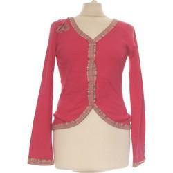 Vêtements Femme Gilets / Cardigans Des Petits Hauts Gilet Femme  38 - T2 - M Rose