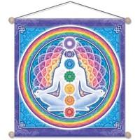 Maison & Déco Tableaux, toiles Zen Et Ethnique Étendard à suspendre Chakras 37 cm Multicolore