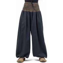 Vêtements Pantalons fluides / Sarouels Fantazia Pantalon elastique bouffant mixte Mia Noir