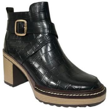 Chaussures Femme Low boots Karston Bottine grifit Noir