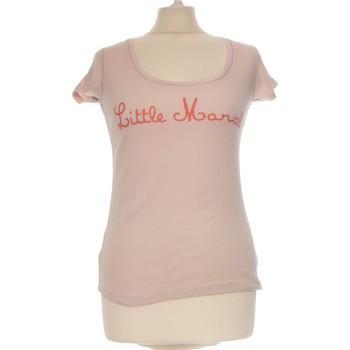 Vêtements Femme Tops / Blouses Little Marcel Top Manches Courtes  36 - T1 - S Rose