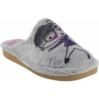 Chaussures Femme Chaussons Berevere Go home Mme  en 1511 gr Rose Gris