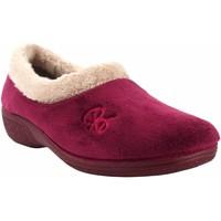 Chaussures Femme Chaussons Berevere Go home lady  à 888 bordeaux Rouge