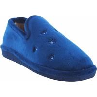 Chaussures Femme Chaussons Berevere Go home lady  en 0585 bleu Bleu