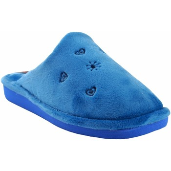 Chaussures Femme Chaussons Berevere Rentrez chez Mme  à 0530 céleste Bleu