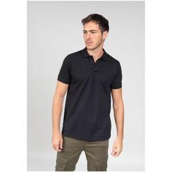 Vêtements Homme Polos manches courtes Deeluxe Polo TAN Black