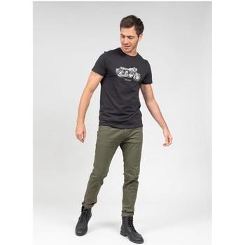 Vêtements Homme T-shirts & Polos Deeluxe T-Shirt FREEMIND Charcoal