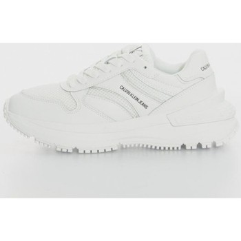 Chaussures Femme Baskets basses Calvin Klein Jeans RUNNER LACEUP SNEAKER SNAP WN Blanc