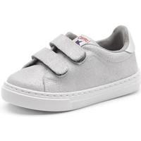 Chaussures Fille Baskets basses Cienta Chaussures fille  Deportivo Scractch Glitter gris clair