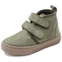 Chaussures Fille Baskets montantes Cienta Bottines fille  Doble Velcro On Napa vert kaki