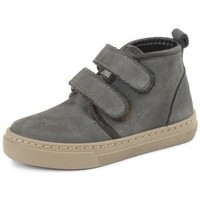 Chaussures Fille Baskets montantes Cienta Bottines fille  Doble Velcro On Napa gris anthracite