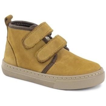 Chaussures Fille Boots Cienta Bottines fille  Doble Velcro On Napa jaune orangé