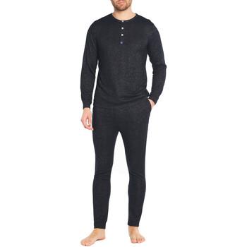 Vêtements Homme Pyjamas / Chemises de nuit Arthur Pyjama long coton Gris anthracite