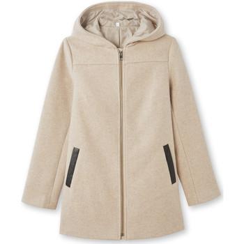 Vêtements Femme Manteaux Kocoon Manteau duffle-coat avec laine beige