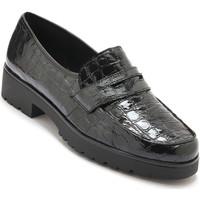 Chaussures Femme Mocassins Pediconfort Mocassins cuir façon croco noir