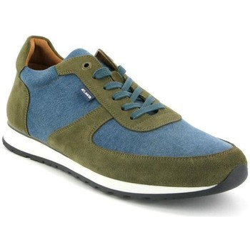 Chaussures Homme Baskets basses Atlanta Mocassin Sneakers en toile et cuir Vert
