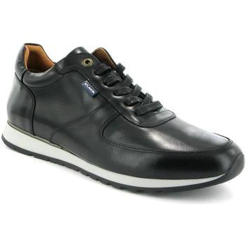 Chaussures Homme Baskets mode Atlanta Mocassin Sneakers en cuir pull up Noir