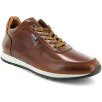 Chaussures Homme Baskets mode Atlanta Mocassin Sneakers en cuir pull up Marron