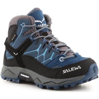Chaussures Enfant Randonnée Salewa Jr Alp Trainer Mid GTX 64010-0365 niebieski
