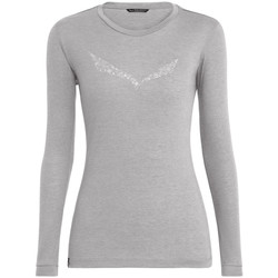 Vêtements Femme T-shirts manches longues Salewa Solidlogo Dry W L/S Tee 27341-0624 szary