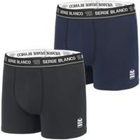 Sous-vêtements Homme Boxers Serge Blanco Lot de 2 Boxers coton homme Class' Noir