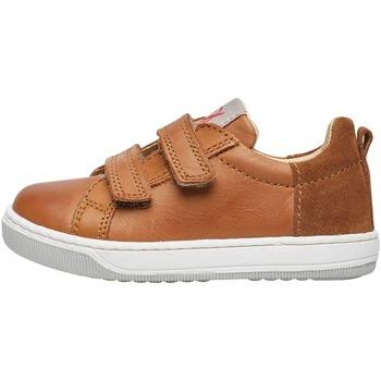 Chaussures Garçon Baskets mode Naturino CALEB VL-basket en cuir nappa marron