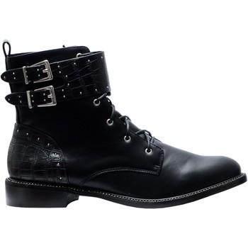 Chaussures Femme Bottines The Divine Factory Bottines QL4025 Noir