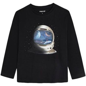 Vêtements Garçon T-shirts manches longues Mayoral  Negro