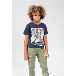 Vêtements Garçon T-shirts & Polos Deeluxe T-Shirt CHARLES Night Blue