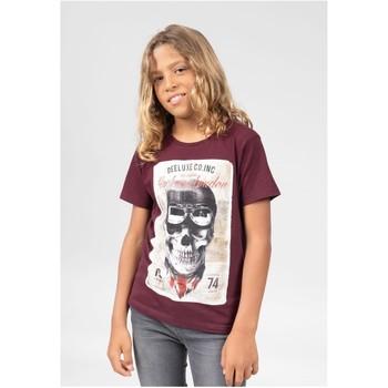 Vêtements Garçon T-shirts & Polos Deeluxe T-Shirt CLEM Plum
