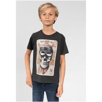 Vêtements Garçon T-shirts & Polos Deeluxe T-Shirt CLEM Charcoal