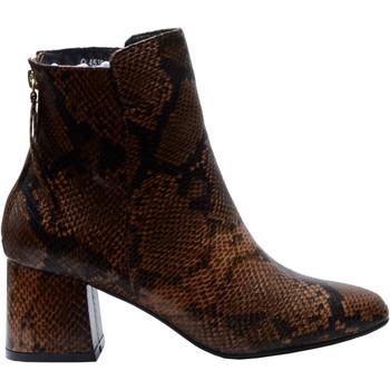 Chaussures Femme Bottines The Divine Factory Bottines Serpent Camel