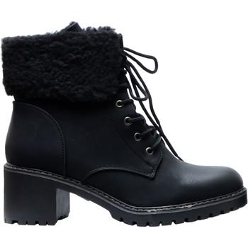 Chaussures Femme Bottes de neige The Divine Factory Bottines PI4541 Noir