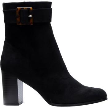 Chaussures Femme Bottines The Divine Factory Bottines QL4549 Noir