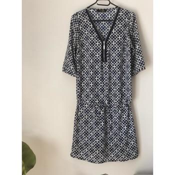 Vêtements Femme Robes courtes Sans marque Robe fond blanc/ motif bleu marine Multicolore