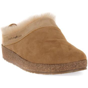 Chaussures Femme Chaussons Haflinger SNOWBIRD BEIGE LAMMFELL CALZ G Beige