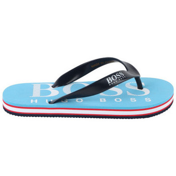Chaussures Enfant Tongs BOSS Tong junior Hugo  29148 turquoise TURQUOISE