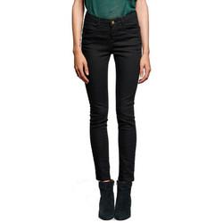 Vêtements Femme Pantalons 5 poches Deeluxe Pantalon femme  PIME noir Noir